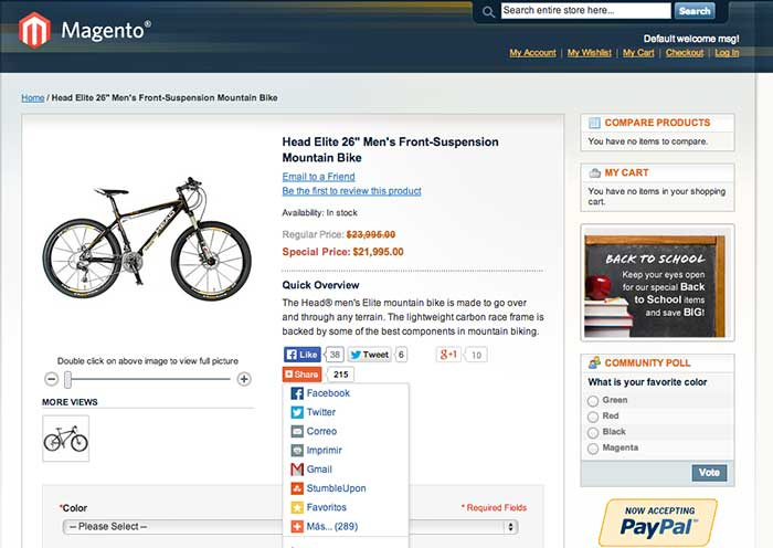 Magento AddThis